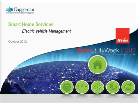 smart home services electric vehicle management itron