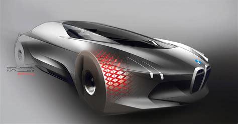 concept design bmw vision next 100 concept 2016 supercar sketches