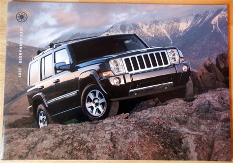 jeep overland limited sell 2007 jeep commander brochure overland limited