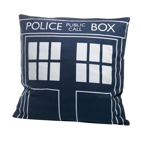 Doctor Who Pillow - doctor who tardis large filled cushion 44cm official brand