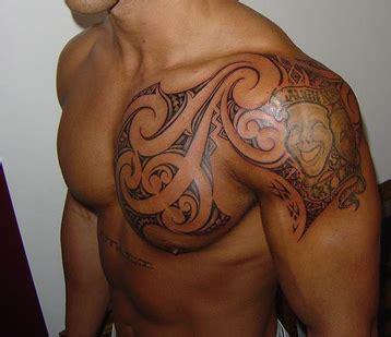 Motive Brust Schulter by M3nik Schulter Mix Frisch Beendet Tattoos