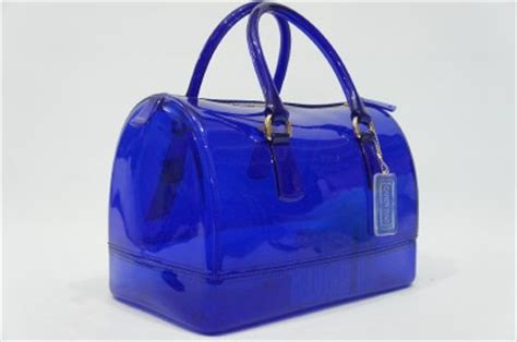 Blue Jelly Bag furla bauletto blue jelly transparent rubber satchel bag