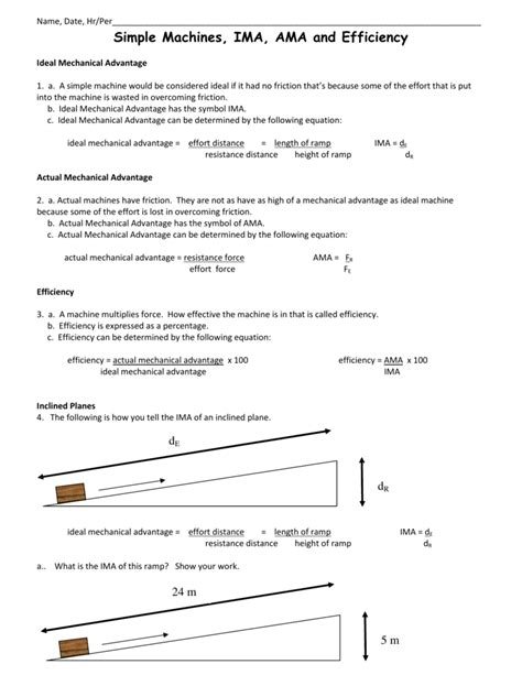 Calculating Mechanical Advantage Worksheet With Answers by Uncategorized Mechanical Advantage Worksheet