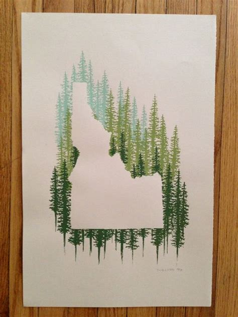 idaho tattoo idaho state print pine beautiful back ground and pine