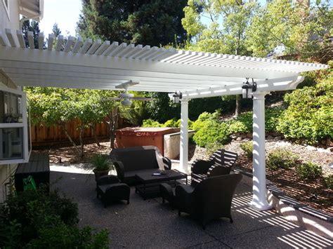 backyard lattice structures lattice shade structure patio sacramento by deome 2 builders inc