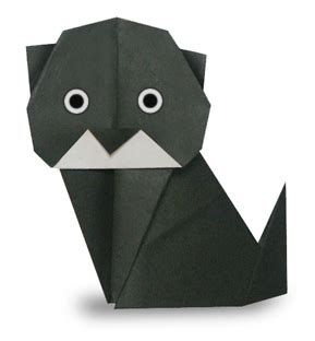 Origami Black Cat - origami black cat