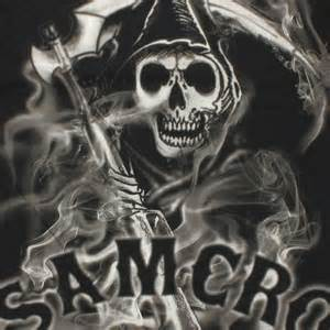 sons of anarchy reaper smoke t shirt
