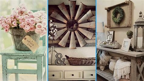 rustic chic home decor vintage rustic shabby chic diy room decor ideas
