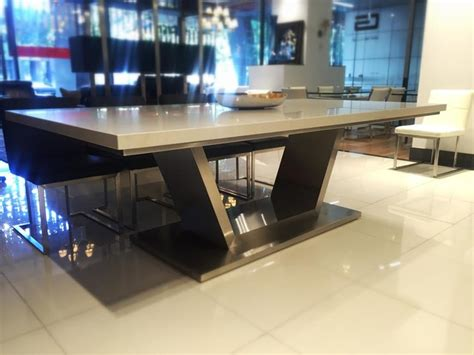 Caesar Dining Table Venus Caesarstone Dining Table Gainsville Furniture Modern Dining Tables Other Metro
