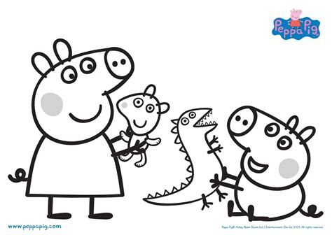 colouring pictures of peppa pig and george peppa pig coloring pages fun for the kids pinterest