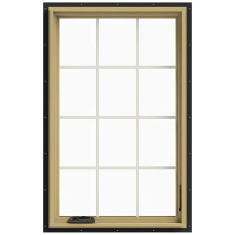 Jeld Wen Aluminum Clad Wood Windows Decor Jeld Wen 30 In X 48 In W 2500 Right Casement Aluminum Clad Wood Window Thdjw140100464
