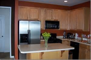 orange wall paint transitional kitchen sherwin
