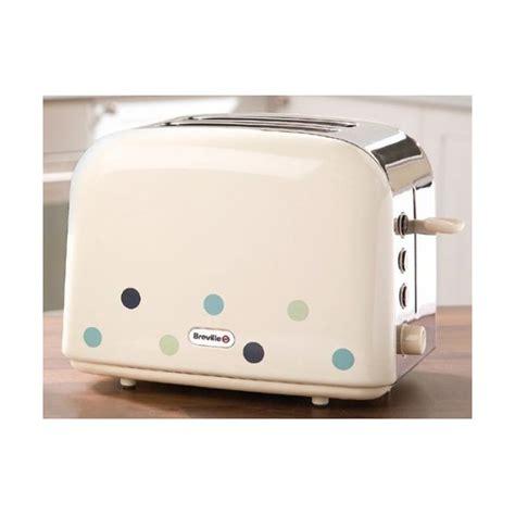 Brevelle Toaster Breville Vtt324 Cream 2 Slice Toaster With Blue Dots