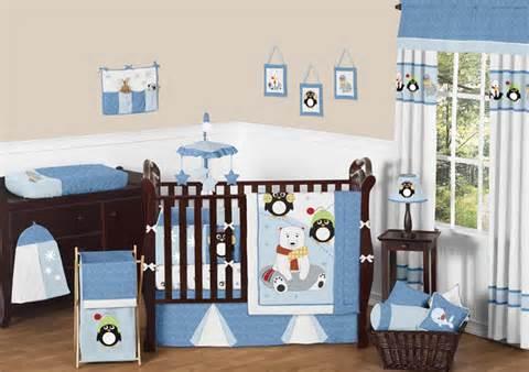 Penguin Crib Bedding Sweet Jojo Designs Animals Penguin Blue White Baby Boys Crib Bedding Set