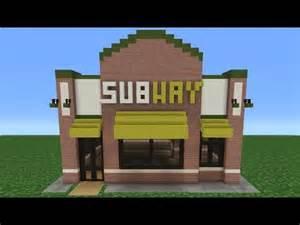 Pet Barn Dog House Minecraft Tutorial How To Make A Subway Restaurant