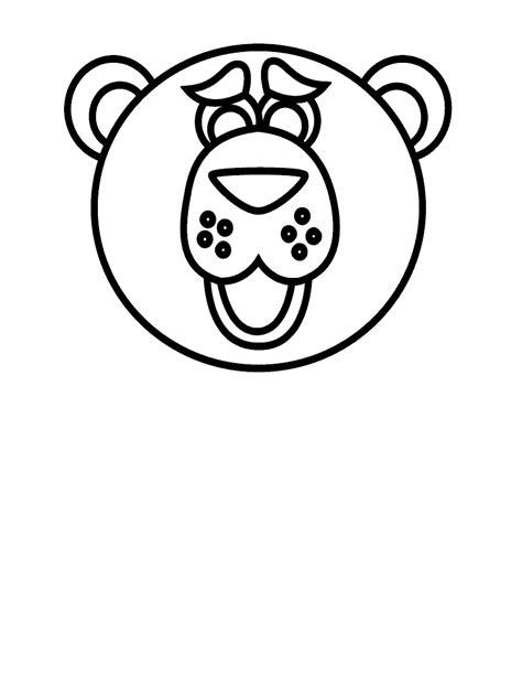 teddy bear head coloring page going on a bear hunt bear free colouring pages