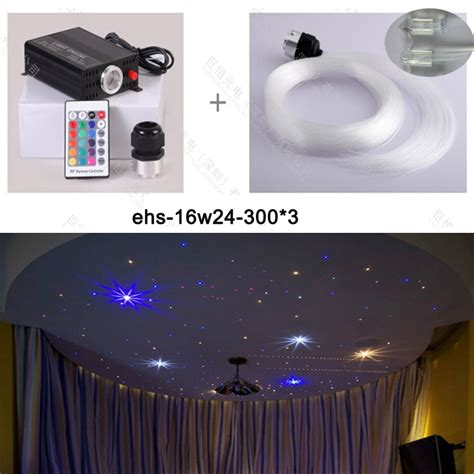 free shipping on sale 16w led fiber optic ceiling