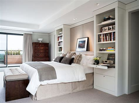 bedroom built in ideas i like the built in bookcases night tables that frame the