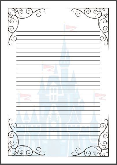 fairytale writing paper tale writing paper template a4 cinderella disney
