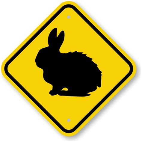 rabbit crossing sign ships fast and hassle free sku k 0276