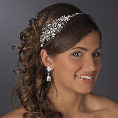 vintage side bridal headpiece headband hp 613