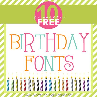 free printable birthday fonts awesome free birthday fonts free font friday