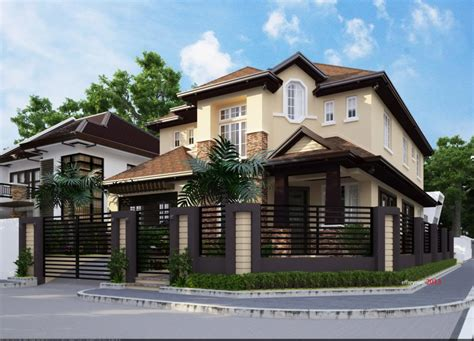 residential home designers proposed 2 storey residential house home design