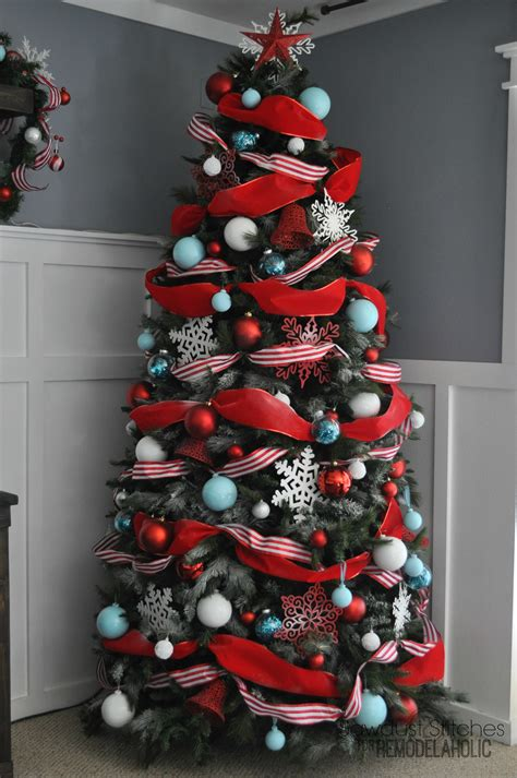 ribbon on a christmas tree pictures remodelaholic how to decorate a tree a designer look from the dollar store
