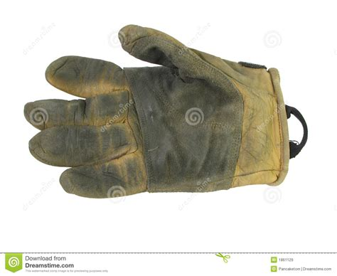 used leather work glove royalty free stock images image