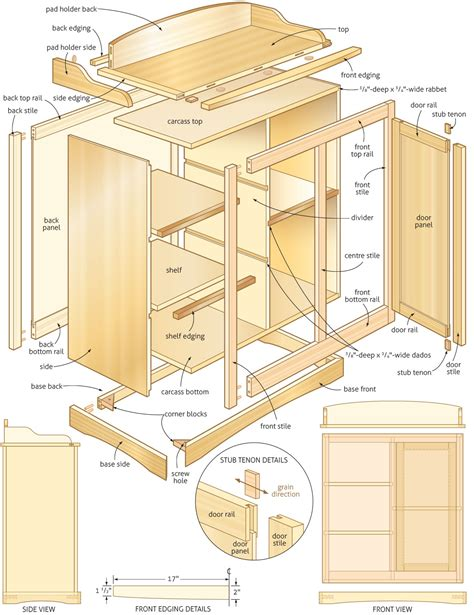 baby changing table woodworking plans woodshop plans