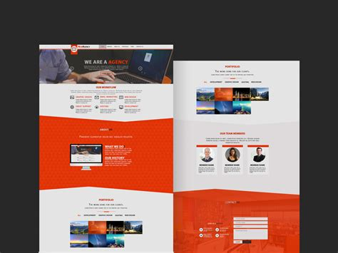 new themes co new agency theme free psd psdfinder co