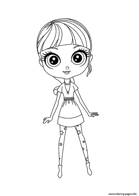 lps blythe coloring pages littlest pet shop blythe cute coloring pages printable