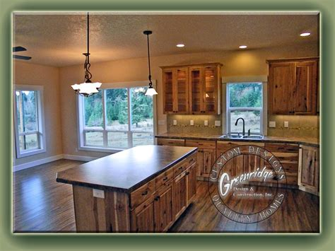 natural hickory floor kitchen rustic kitchen hickory cabinets applewood flooring