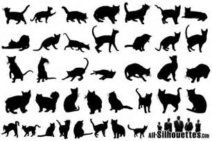 free vector cats silhouettes free vectors pinterest