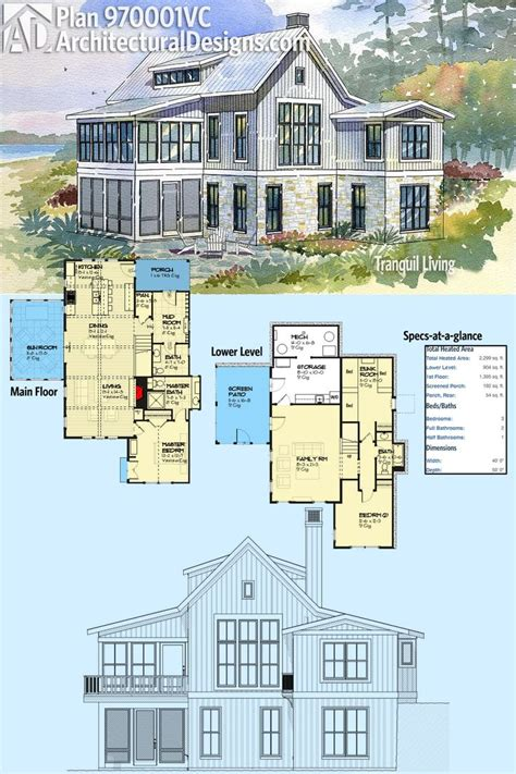narrow sloping lot house plans single level living 25 best ideas about lake house plans on pinterest open