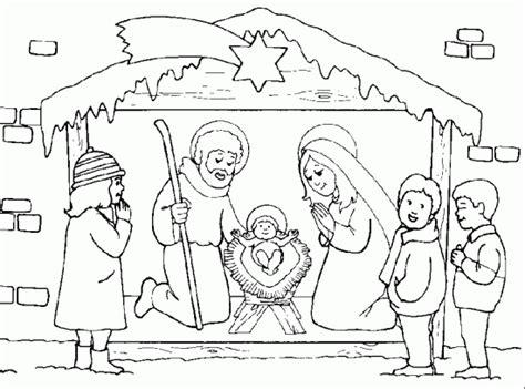 imagenes para colorear sobre la navidad dibujos para colorear del nacimiento de jesus dibujos