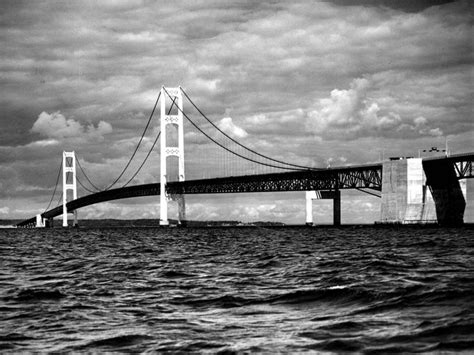 mighty mac the bridge that michigan built books the mighty mac views of the mackinac bridge and mackinac