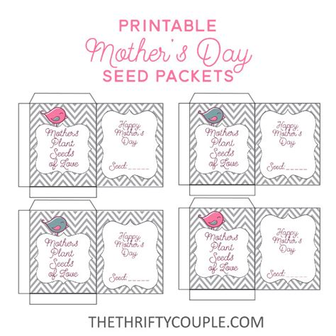 printable seed envelope diy mother s day gift ideas printable seed packet