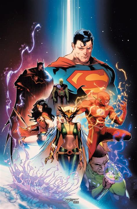 libro 1 justice league tp dc unveils cover artwork for justice league 1