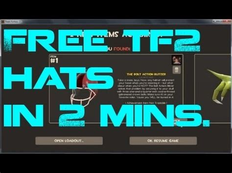 Tf2 Hat Giveaway - how to get free tf2 hats in 2 minutes still works september 2015