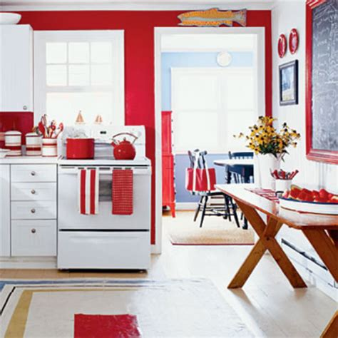 Kitchen Decorating Ideas With Red Accents | red kitchen decorating ideas home interior design ideas