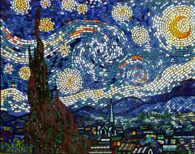 ideas mosaic wall: brett campbell starry night mosaic art mural