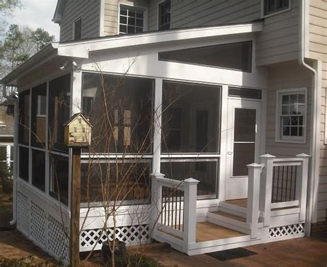 screen porch   build  shed roof   deck