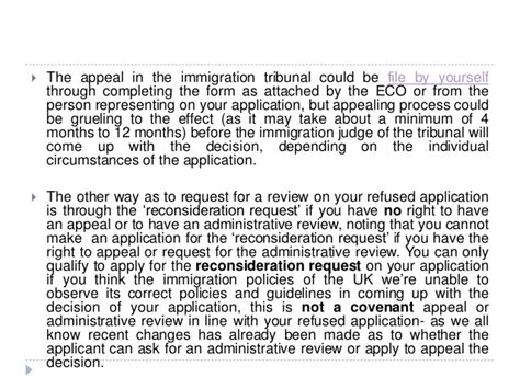 uk appeal review reconsideration request  refused application