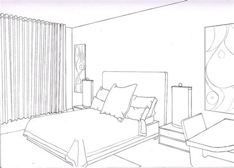 sketch of a bedroom 2 point perspective bedroom sketch www pixshark com