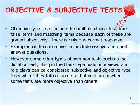 exles of objective and subjective statements tsl 3123 language assessment ppt