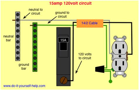 wiring diagram 15 circuit breaker 120 volt circuit
