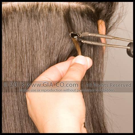 hair extension application apply bonded hair extensions weft hair extensions