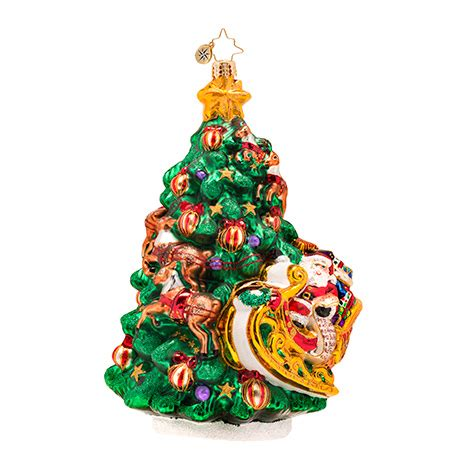 christopher radko wrappin around christmas tree ornament