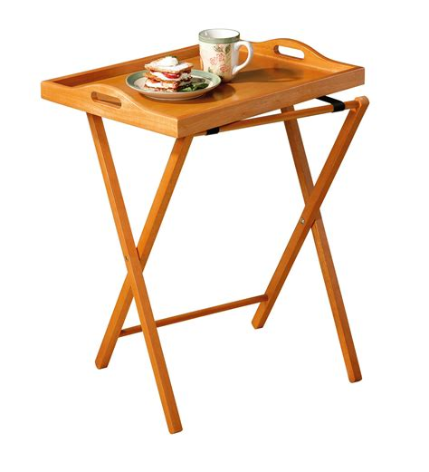 essential home table kmart essential home oak finish folding tv tray table